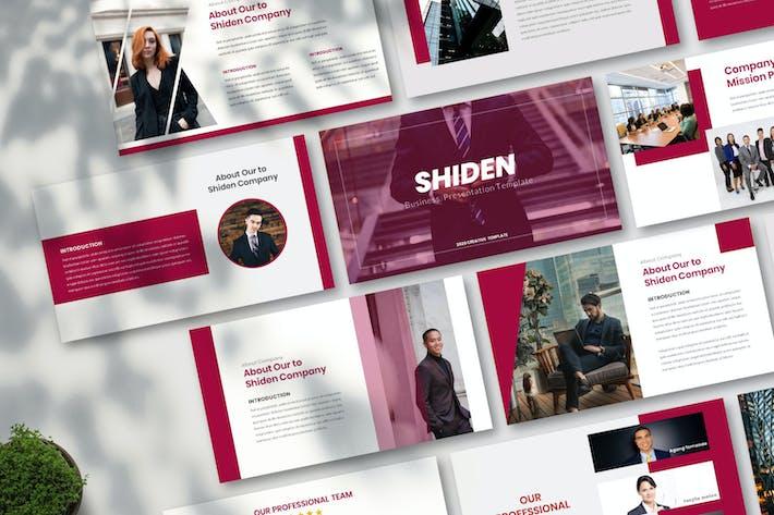 Thumbnail for Shiden - Business Keynote Template