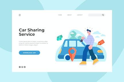 Car Sharing Service Landing Page