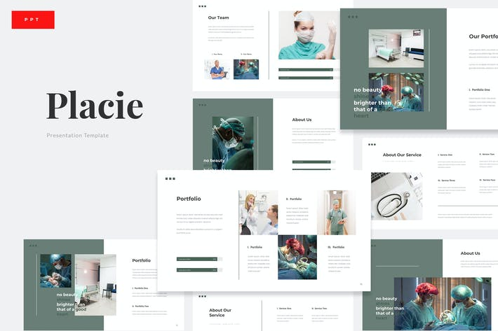 Placie - Medical Surgery Powerpoint Template