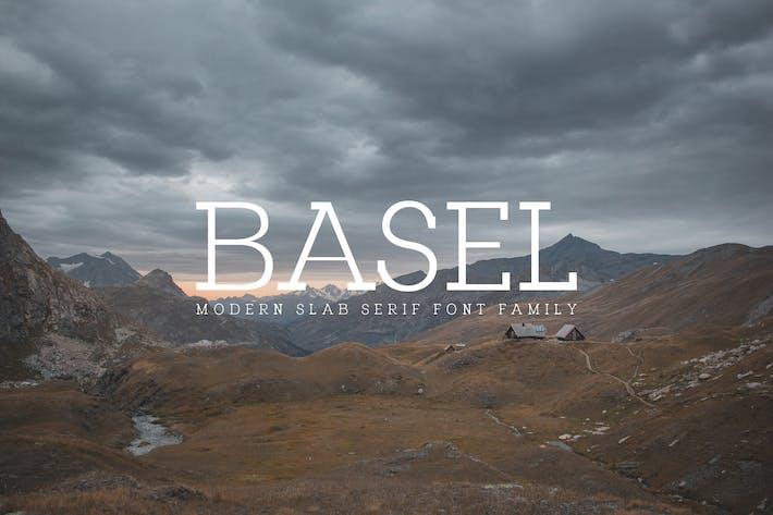 Thumbnail for Basel Slab Serif Font Family