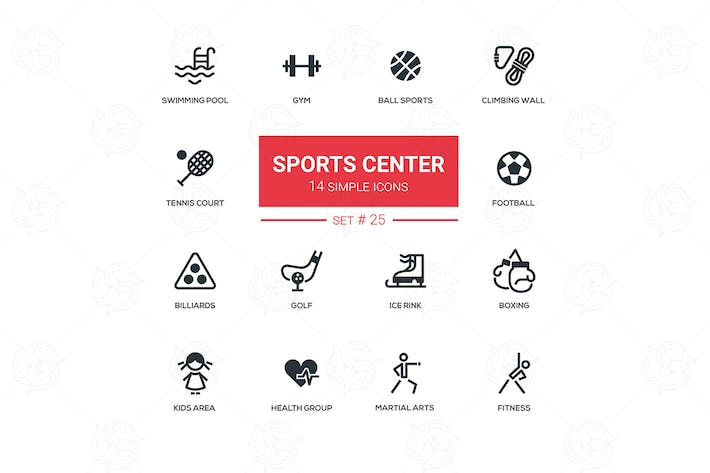 Thumbnail for Sports center - modern simple icons