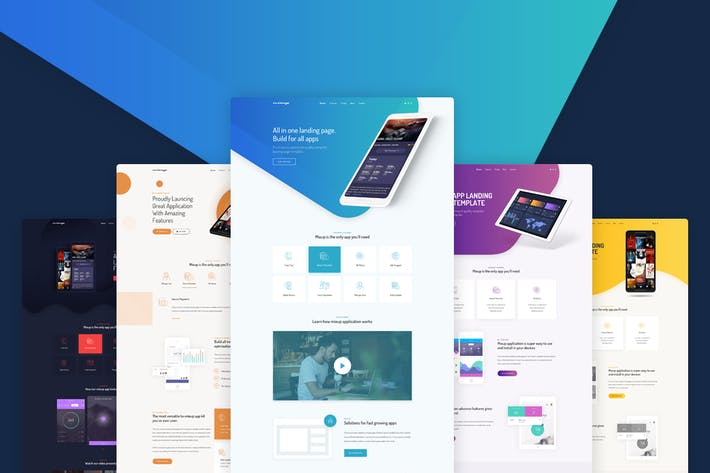 Thumbnail for Mixup - App Landing Page HTML Template