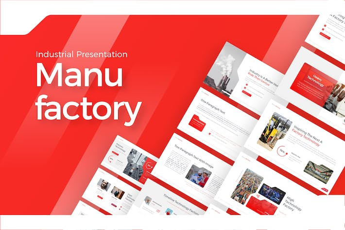 Cover Image For Manufactory Creative Industrial Presentation