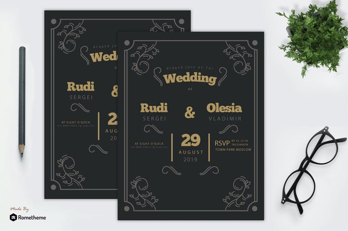 Thumbnail for Hochzeitseinladung vol. 01 MR