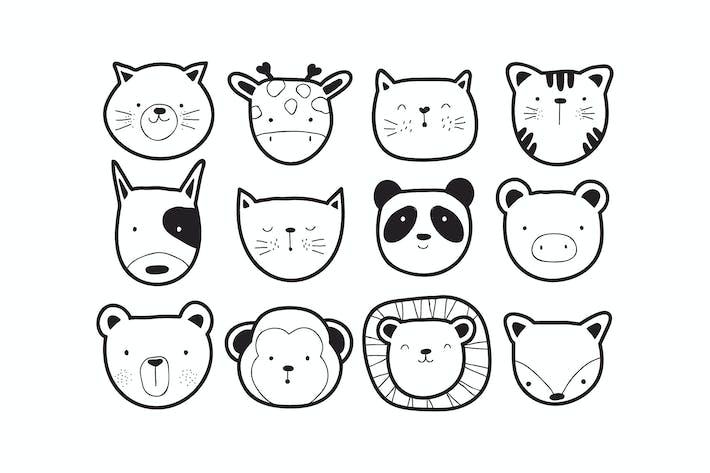 Thumbnail for cute animal vectors