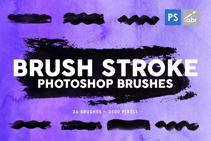 Thumbnail for 26 Brush Stroke Photoshop Brushes