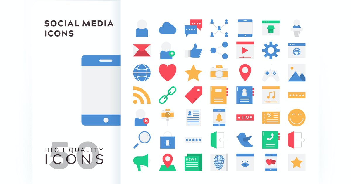 Download SOCIAL MEDIA FLAT COLOR by subqistd