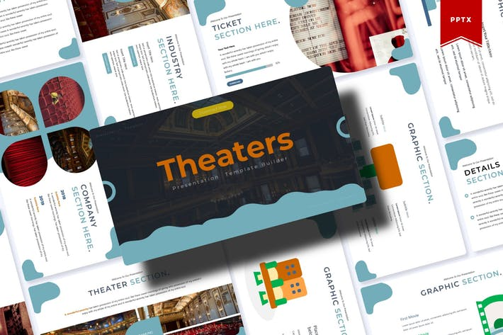 Thumbnail for Theaters | Powerpoint Template