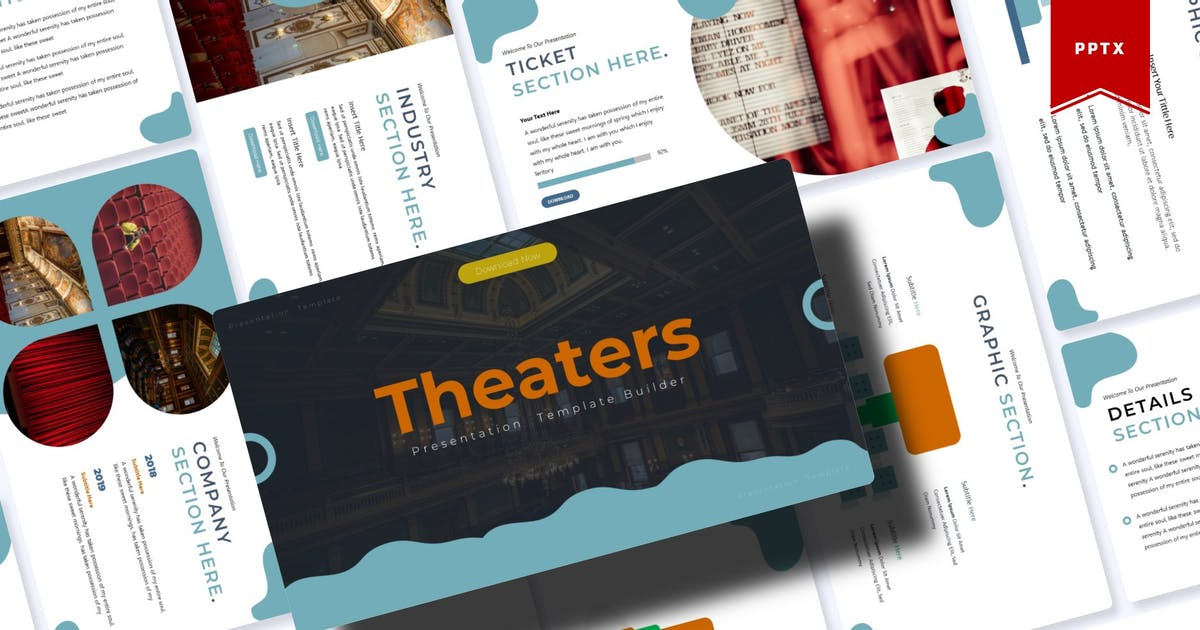 Download Theaters | Powerpoint Template by Vunira