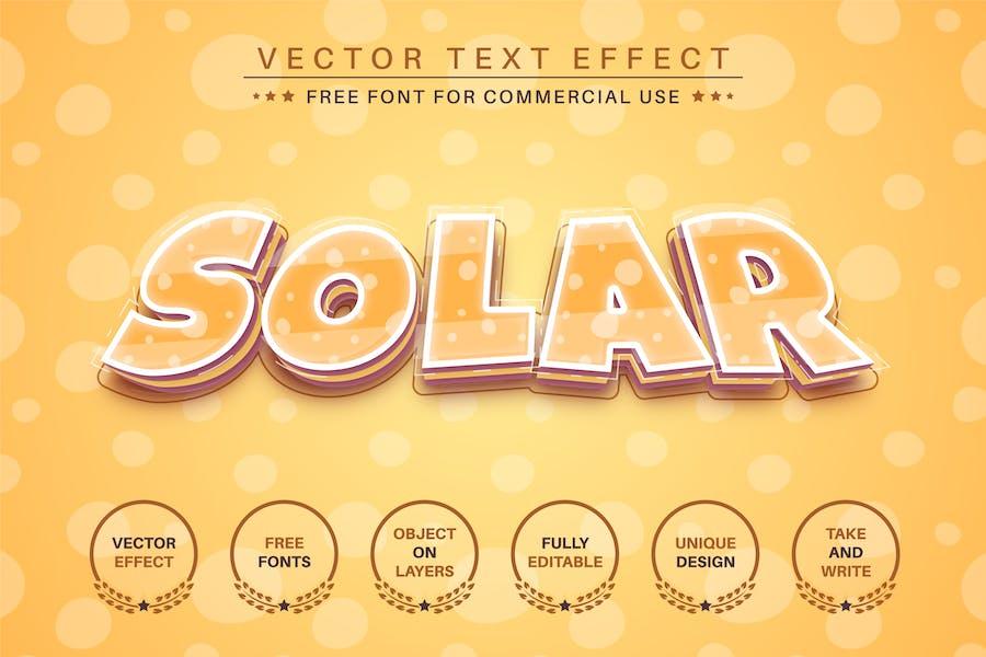 Solar - editable text effect, font style