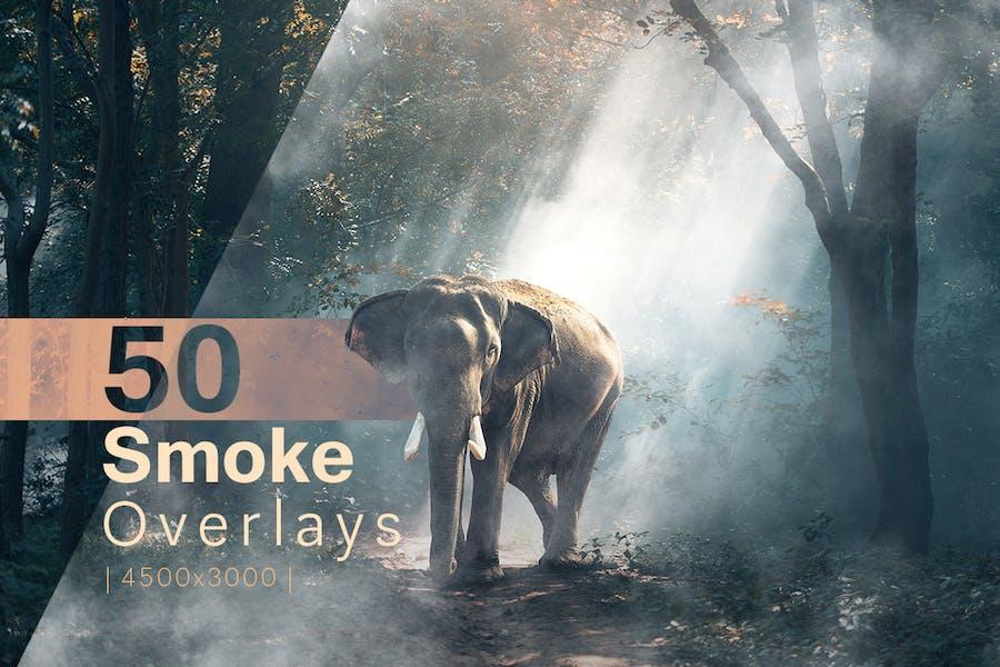 50 Superposiciones humo