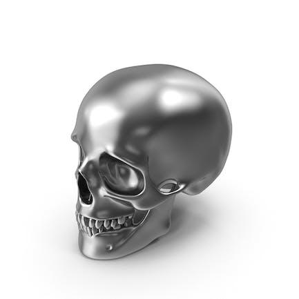 Silberner Schädel