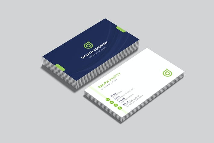 Thumbnail for Green Business Card Visit