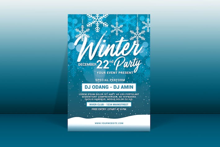 Cover Image For Winter Party Flyer