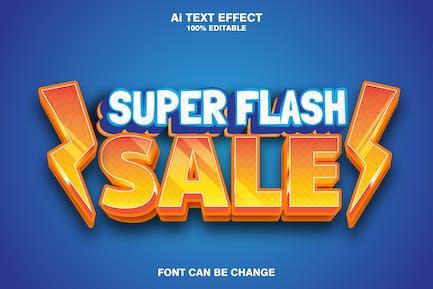 super flash sale 3d text effect