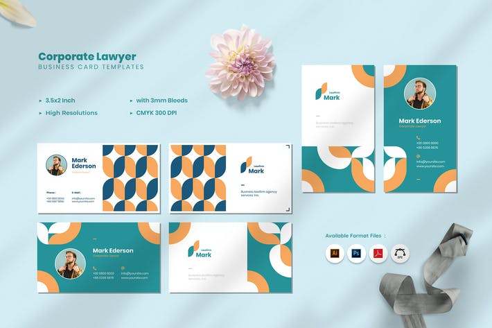 Thumbnail for Corporate Lawyer Business Card