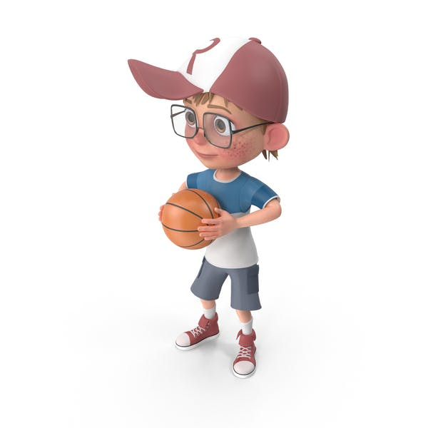Thumbnail for Cartoon Boy Harry Playing Basketball
