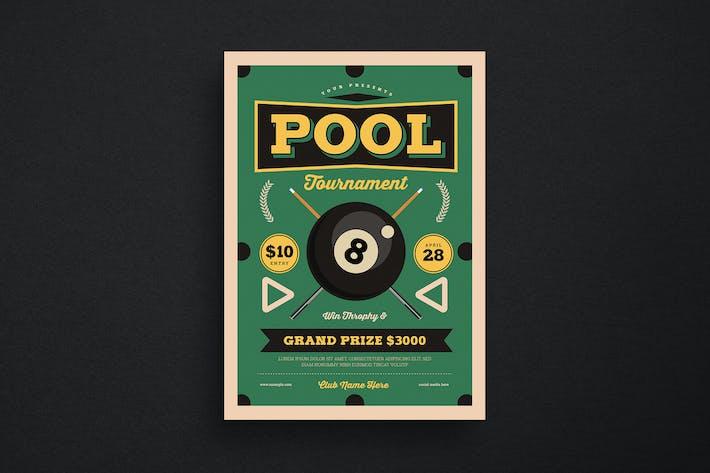 Thumbnail for Retro Pool Night Tournament Flyer