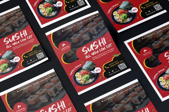 Thumbnail for Japan Restaurant Flyer PSD Template