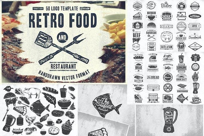 Cover Image For 50 Vintage Food & Restaurant Badges Logo
