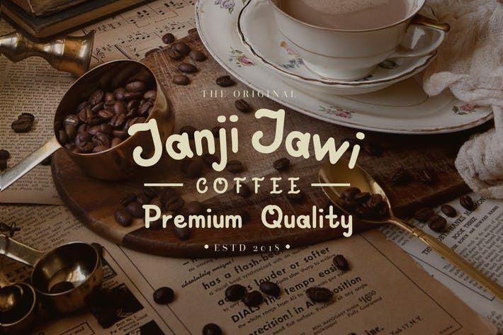 Cover Image For Janji Jawi Handwritten Script Font