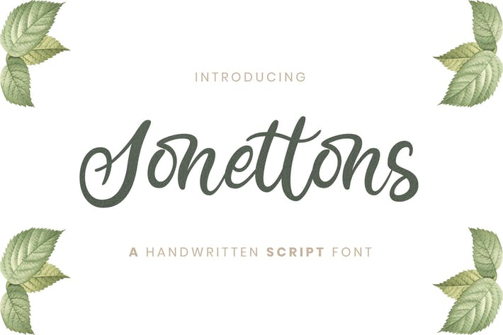 Cover Image For Sonettons Script - Police de mariage