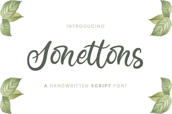 Thumbnail for Sonettons Script - Wedding Font