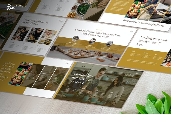 Thumbnail for Kane - Culinary Business Keynote Template