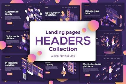 Landing page templates, dark theme