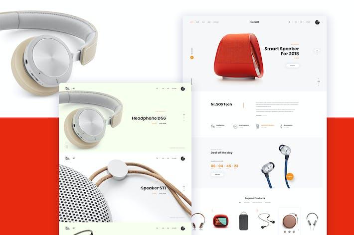 Thumbnail for Ne26 - Speaker store Ecommerce PSD template