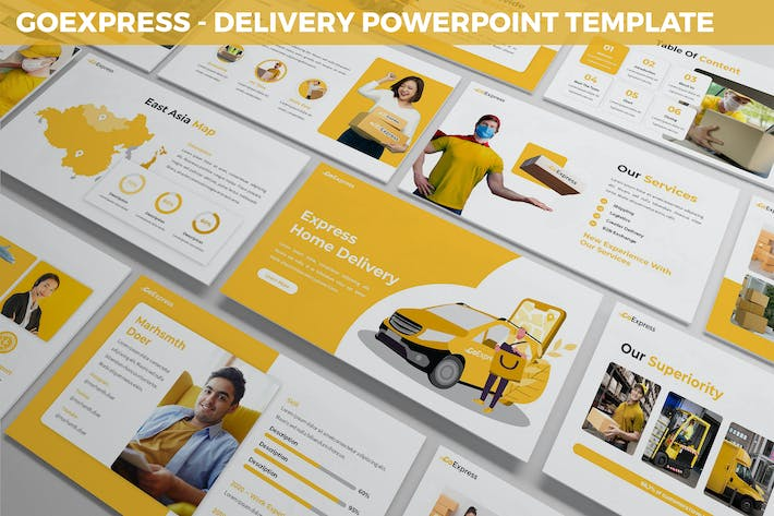 Thumbnail for GoExpress - Delivery Powerpoint Template
