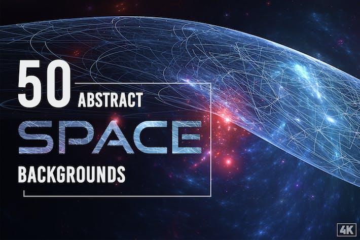 50 Fondos espaciales abstractos - Vol. 1