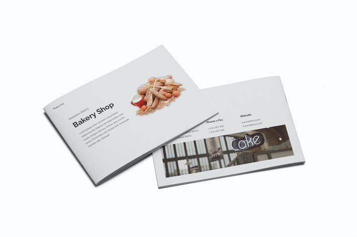 Thumbnail for Bakery A5 Brochure Template