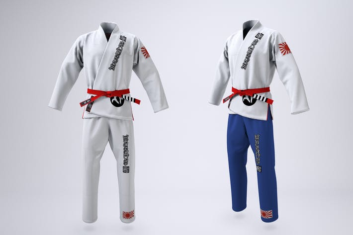Thumbnail for Brazilian Jiu-Jitsu Gi Uniform Mock-up