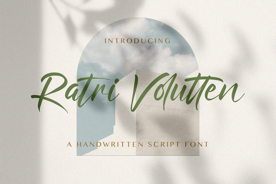 Ratri Volutten - Handwritten Font
