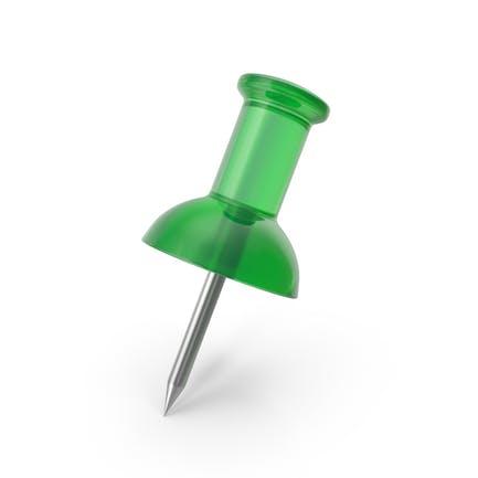 Push Pin Transparent Green