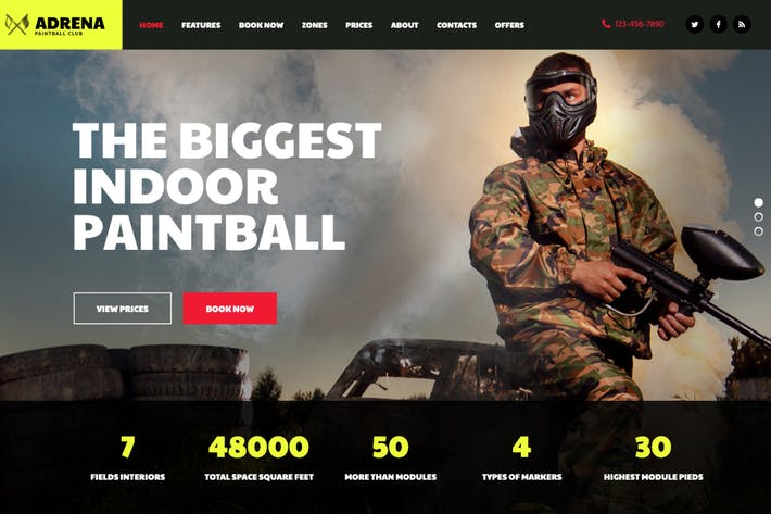 Thumbnail for Adrena | Airsoft Club & Paintball WordPress Theme