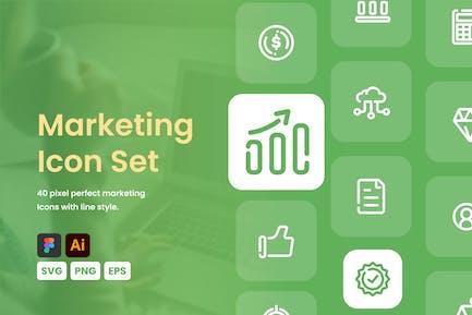 Conjunto de iconos de marketing