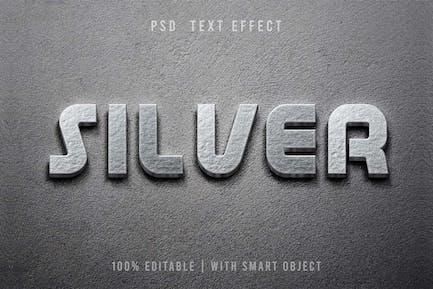 3D-Silbertext-Effekt - Vorlage editierbar