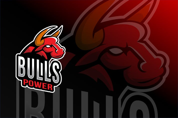 Thumbnail for Bulls Power Esport Logo Template