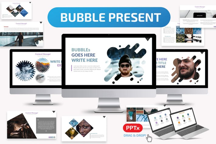 Cover Image For Bubble Powerpoint Template