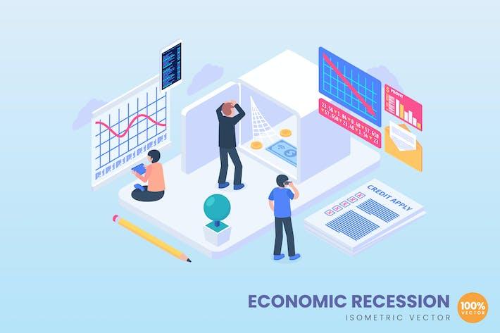 Иллюстрация концепции экономического спада