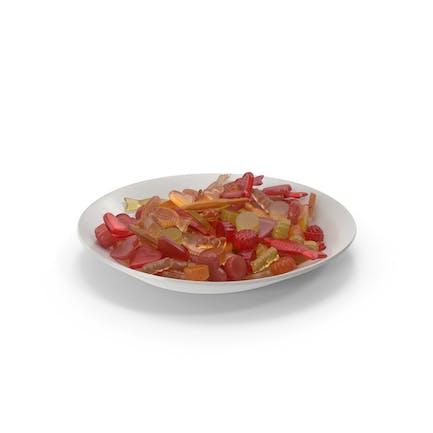 Teller mit gemischtem Gummibärchen