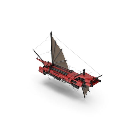 Flying Ship Red
