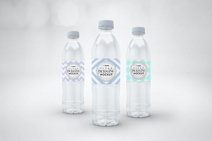 Thumbnail for Clear Bottle Set Packaging Mockup