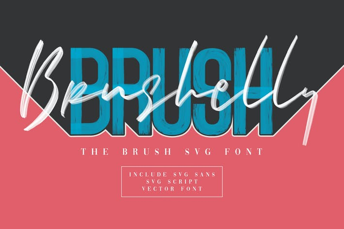 Thumbnail for Brushelly SVG Brush Font