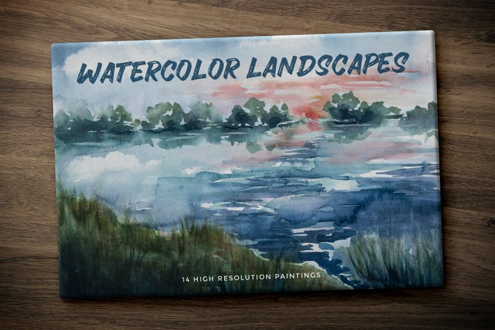 Thumbnail for Hand Painted Watercolor Landscapes Volume 1