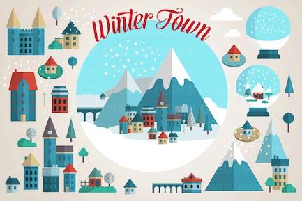 Winter Mountain Town