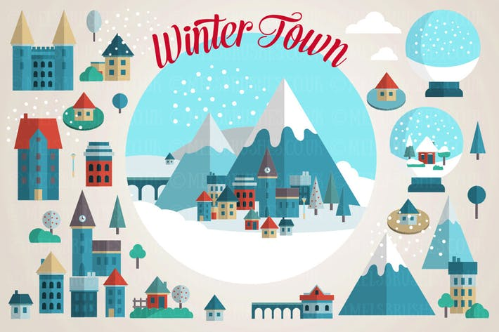 Cover Image For Winter Mountain Town