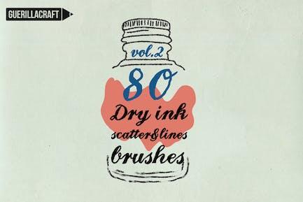 Dry Ink Brushes for Adobe Illustrator vol.2